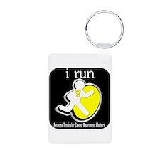 I Run Cancer Awareness Keychains