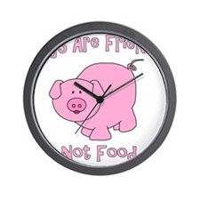 Pigs Are Friends Not Food Wall Clock