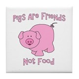 Pigs are friends Drink Coasters