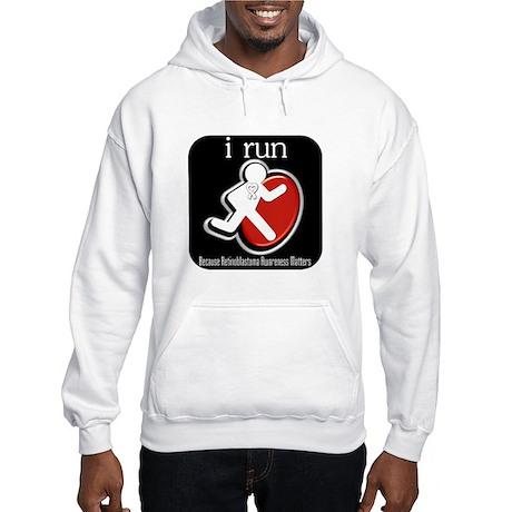 I Run Cancer Awareness Hooded Sweatshirt