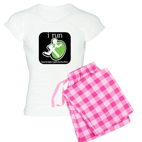 I Run Cancer Awareness Women's Light Pajamas