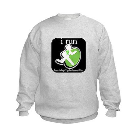 I Run Cancer Awareness Kids Sweatshirt