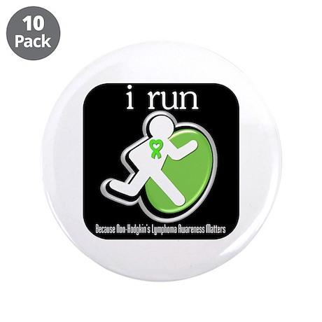 """I Run Cancer Awareness 3.5"""" Button (10 pack)"""