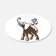 Ganesh Aum 22x14 Oval Wall Peel