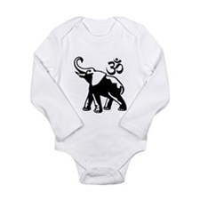 BW Ganesh Aum Long Sleeve Infant Bodysuit