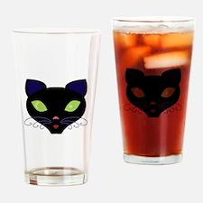 Night Cat Vector Drinking Glass