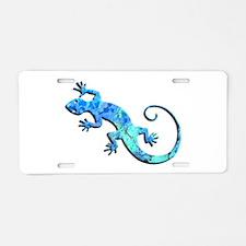 Malachite Blue Gecko Aluminum License Plate