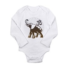 Ganesh Aum Long Sleeve Infant Bodysuit