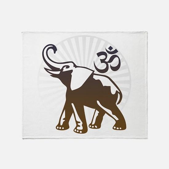 Ganesh Aum Throw Blanket