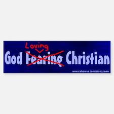 """God Loving Xian"" Bumper Bumper Bumper Sticker"