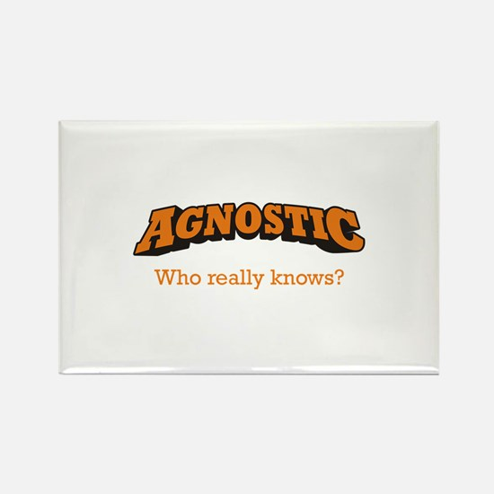 Agnostic / Who Rectangle Magnet