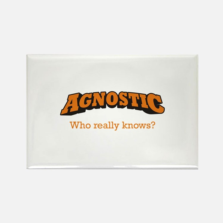 Agnostic / Who Rectangle Magnet (10 pack)