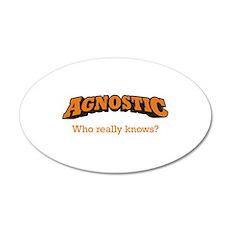 Agnostic / Who 22x14 Oval Wall Peel