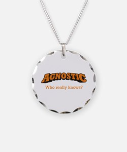 Agnostic / Who Necklace Circle Charm