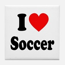 I Heart Soccer: Tile Coaster
