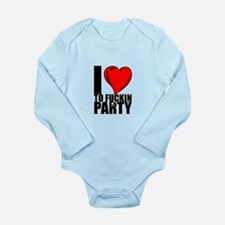 Party Long Sleeve Infant Bodysuit