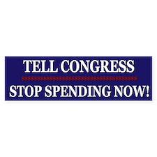 Stop Spending Now Bumper Sticker