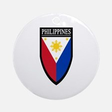 Philippines Patch Ornament (Round)