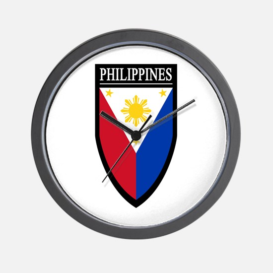 Philippines Patch Wall Clock