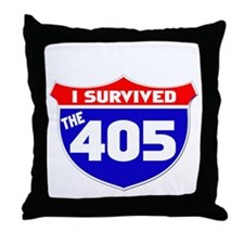 I survived the 405 Throw Pillow