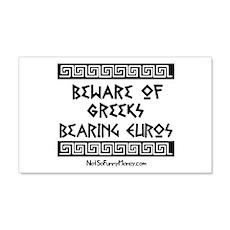Greeks Bearing Euros 22x14 Wall Peel