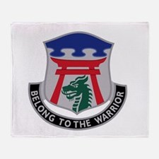 Cute Military 199th infantry brigade Throw Blanket