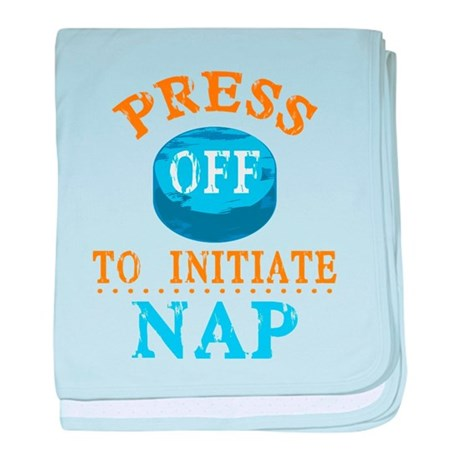 Press Off to Nap baby blanket