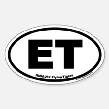 ET HMM-262 Flying Tigers Oval Decal