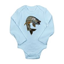 musky 4 Long Sleeve Infant Bodysuit