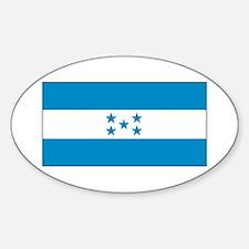 Honduras Honduran Blank Flag Oval Decal