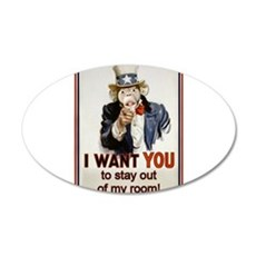 Stay out of my Room 22x14 Oval Wall Peel