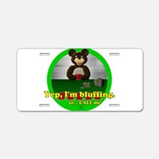 Bluffing Bear Aluminum License Plate