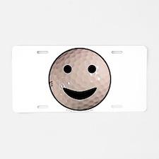 Golf Smiley Aluminum License Plate