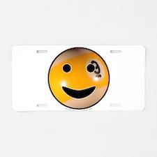 9-ball Smiley Aluminum License Plate