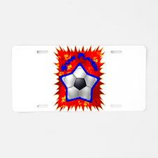 Soccer Star 1 Aluminum License Plate