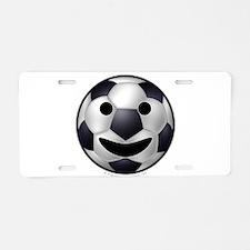Soccer Ball Smiley Aluminum License Plate