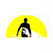 Surfer Silhouette Aluminum License Plate