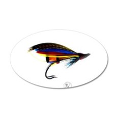 Silver Doctor Salmon Fly 22x14 Oval Wall Peel