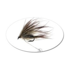 English Spey Fly 22x14 Oval Wall Peel