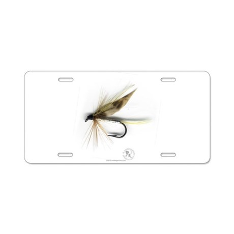 Cummins Wet Fly (March Brown) Aluminum License Pla