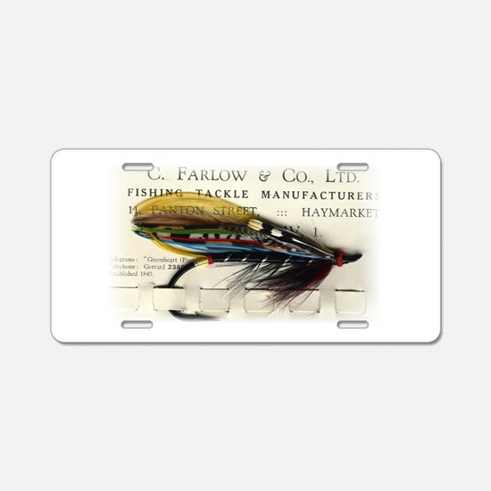 Farlow Salmon on Card Aluminum License Plate
