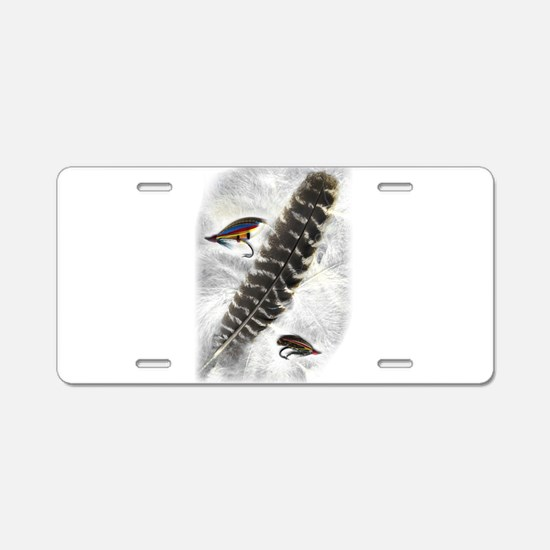 Flies on Feathers Aluminum License Plate