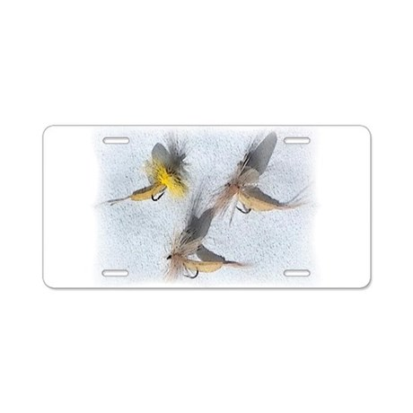 Fishing Flies Aluminum License Plate