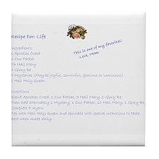 Recipe For Life - Tile Coaster