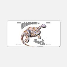 Dinosaurs Rock! Aluminum License Plate