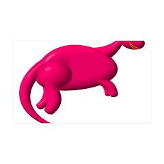 Sexy Hot-Pink Dinosaur 38.5 x 24.5 Wall Peel