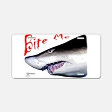 Shark: Bite Me Aluminum License Plate