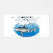 Send More Tourists Aluminum License Plate