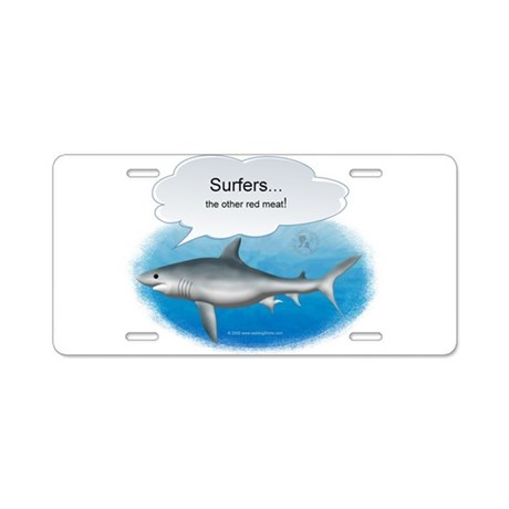 Surfers- other red meat Aluminum License Plate