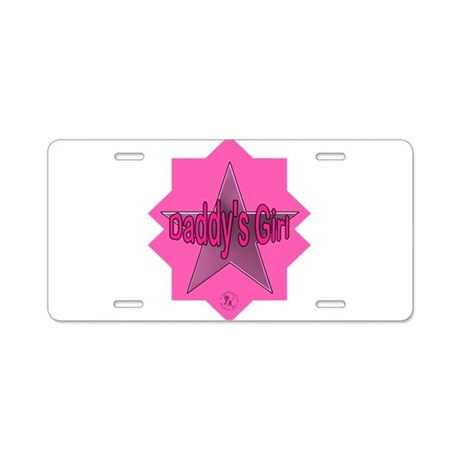 Daddy's Girl (Star) Aluminum License Plate